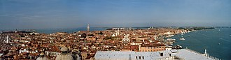 Venice for Lovers - View of Venice from St Mark's Campanile.