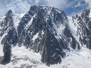 Les Droites mountain in the Mont Blanc massif in the Alps