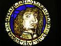 Vetrata con ritratto virile su cartone di ercole de' roberti, inv. 2497.JPG