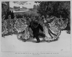 "The Vicar of Bray (opera) - Scene from Act II: The ""Pas de Cinq"", 1892 at the Savoy Theatre"