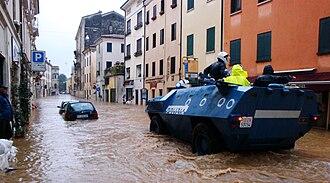Vicenza - Vicenza during flooding, November 2010