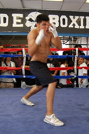 Victor Ortiz - Victor Ortiz media workout at Westside Boxing Club in Los Angeles on June 24, 2009