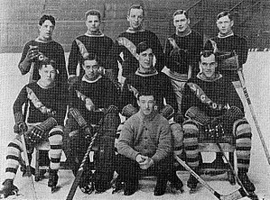 Walter Smaill - Smaill, in the middle in the back row, with the Victoria Aristocrats.