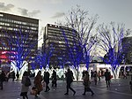 View in front of Hakata Station at dusk 20181214-1.jpg