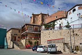 View of Argecilla with the town hall and the church 01.jpg