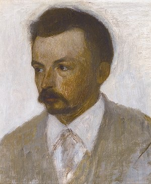 Vilhelm Hammershøi - Self-portrait, 1895
