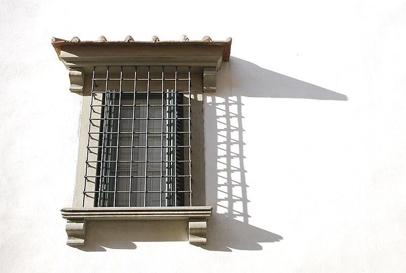 Villa Il Gioiello - Facade - Barred Window.JPG