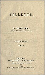 <i>Villette</i> (novel) 1853 novel by Charlotte Brontë