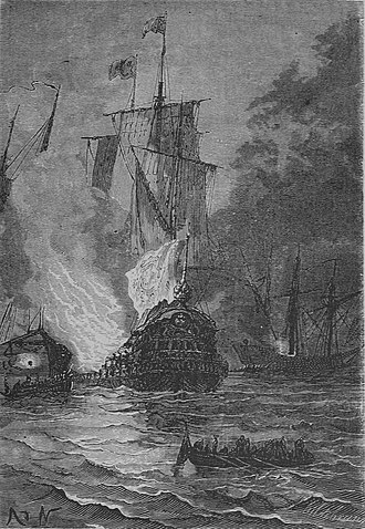 Battle of Vigo Bay - The Battle of Vigo Bay as depicted by Alphonse de Neuville in Twenty Thousand Leagues Under the Sea.