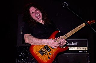 Vinnie Moore American guitarist and member of the band UFO