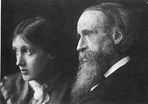 Virginia Woolf with her father, Sir Leslie Ste...