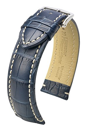 Where to Find the Biggest Selection of 26mm Watch Straps- English: Watch strap (Viscount blue) Deutsch: ...
