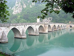 Serbs of Bosnia and Herzegovina - Mehmed Paša Sokolović Bridge, UNESCO World Heritage Site, over the Drina