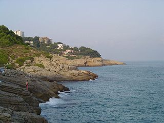 Costa Daurada coastal region in Catalonia, Spain