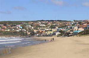 Vleesbaai - Modern day view of Vleesbaai beach from Boggomsbaai.