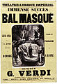 Vocal score for 'Le bal masqué' by Verdi at the Théâtre Lyrique 1869.jpg