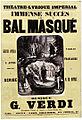 Vocal score for 'Le bal masqué' by Verdi at the Théâtre Lyrique 1869.jpg