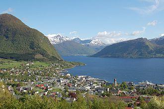 Volda - View of Volda and the Voldsfjorden