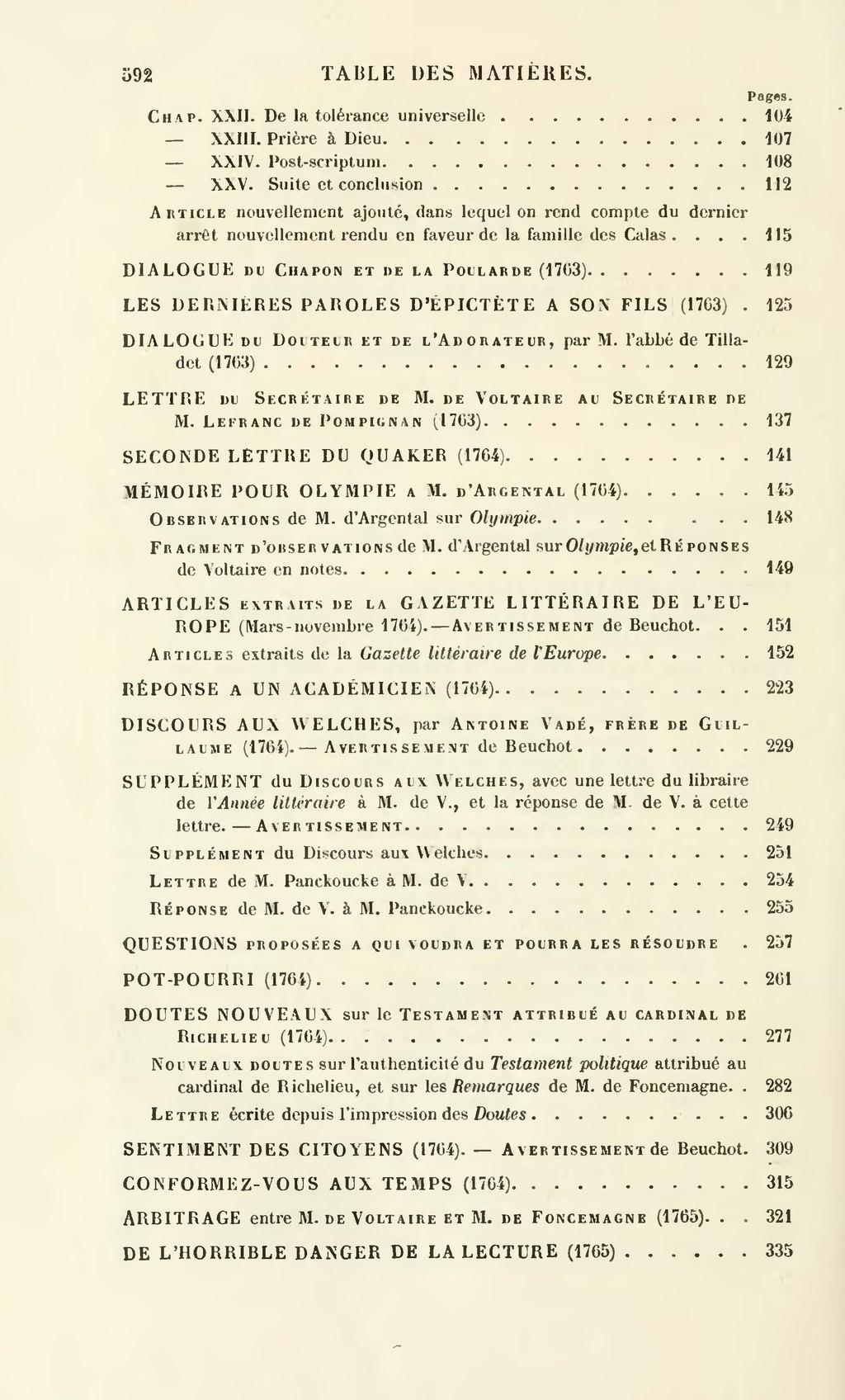 Page Voltaire œuvres Completes Garnier Tome25 Djvu 602 Wikisource