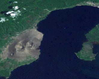 Vulcan (volcano) - Vulcan, as seen from space.
