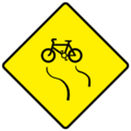 W144 Slippery for Cyclists - Warning Sign Ireland.png