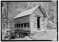 WEST AND NORTH SIDES - Alfred Raegan Tub Mill, Roaring Fork Trail, Gatlinburg, Sevier County, TN HABS TENN,78-GAT.V,4-3.tif