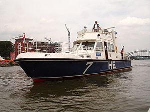 Wasserschutzpolizei - A WSP patrol boat of the Hesse State Police