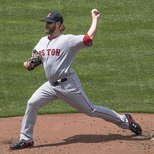 Wade Miley - Miley pitching for the Boston Red Sox in 2015