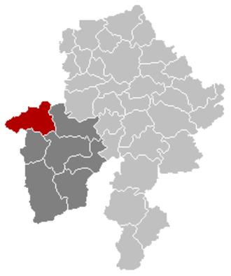 Walcourt - Image: Walcourt Namur Belgium Map