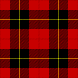Clan Wallace - Wallas tartan, as published in 1842 in Vestiarium Scoticum.