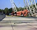Walter Cronkite in training harness.jpg