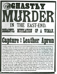 Wanted poster of the London Police