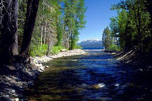 Ward Creek (Lake Tahoe) - The mouth of Ward Creek on Lake Tahoe.
