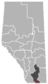 Warner, Alberta Location.png