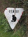 Warning for just one of the hazards of the north Essex countryside - geograph.org.uk - 736088.jpg