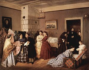 Dowry - The Dowry - by 19th century Russian painter, Vasili Pukirev; dowry was a common practice through the 19th century.