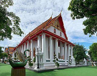 Wat Hong Rattanaram Buddhist temple in Bangkok, Thailand