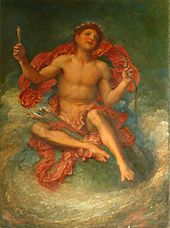 naked child sitting on a globe holding a bow and arrow