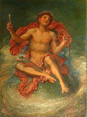 nacktes Kind, das auf einem Globus sitzt, der Pfeil und Bogen hält