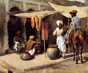 Outside An Indian Dye House