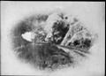 Wellington and Manawatu Railway Company Wh class locomotive leaving Wadestown tunnel ATLIB 512281.png