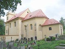 Friedhofskirche St. Wenzel in Plasy, Grablege Metternichs (Quelle: Wikimedia)