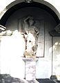 Werl, Baudenkmal, Hammerstraße, Heiligenhaus St. Michael, Detaiansicht der Figur.JPG