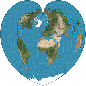 Werner projection - Werner projection of the world