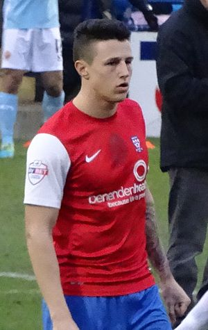 Wes Fletcher - Fletcher playing for York City in 2014