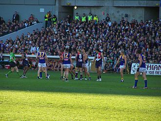 Western Derby - Shaun McManus' farewell game in Round 18 2008 Western Derby Fremantle home game