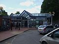 Weybridge station building look west.JPG