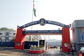 Hindustan Shipyard - A view of the Hindustan Shipyard at Visakhapatnam