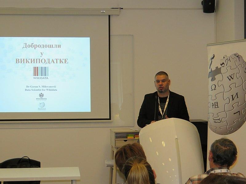 File:WikiLive 2018 in Serbia, Wikidata, Goran 1.jpg