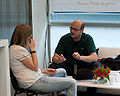 Wikimania 2009 - Chatting (3).jpg